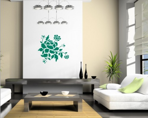 Decorating stencil xxl peony nr 70 sklepdecor for Decoration xxl