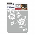 "Decorating Stencil - XXL ""Roses in black"" nr 83"