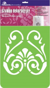 "Decorating Stencil - MINI ""Decor"" nr 242"