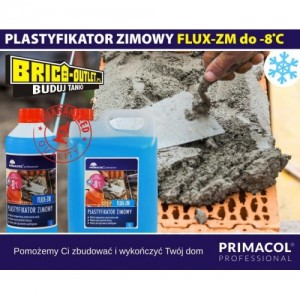 Plastyfikator zimowy do betonu 1 l do -8 st.C  FLUX-ZM