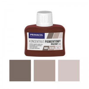 PIGMENT CONCENTRATE for paints Primacol brązowy (nr 18) 80ml