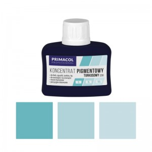 PIGMENT CONCENTRATE for paints Primacol turkusowy (nr 26) 80ml