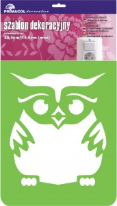 "Decorating Stencil - MINI ""Owl"" nr 240"