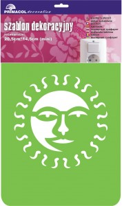 "Decorating Stencil - MINI ""Sun"" nr 206"