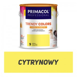 Paint Trendy Colors cytrynowa 2,5 l