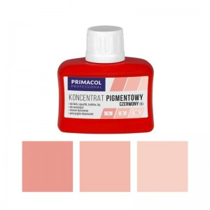 PIGMENT CONCENTRATE for paints Primacol czerwony (nr 9) 80ml