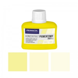PIGMENT CONCENTRATE for paints Primacol żółty (nr 1) 80ml