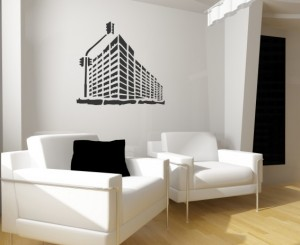 "Decorating Stencil - XXL ""Big City"" nr 64"