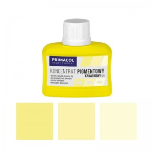 PIGMENT CONCENTRATE for paints Primacol kanarkowy (nr 2) 80ml