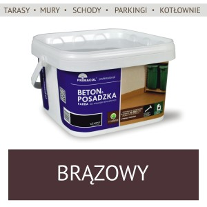 Floor and Concrete Paint - 2,5l brąz