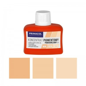 PIGMENT CONCENTRATE for paints Primacol pomarańczowy (nr 7) 80ml