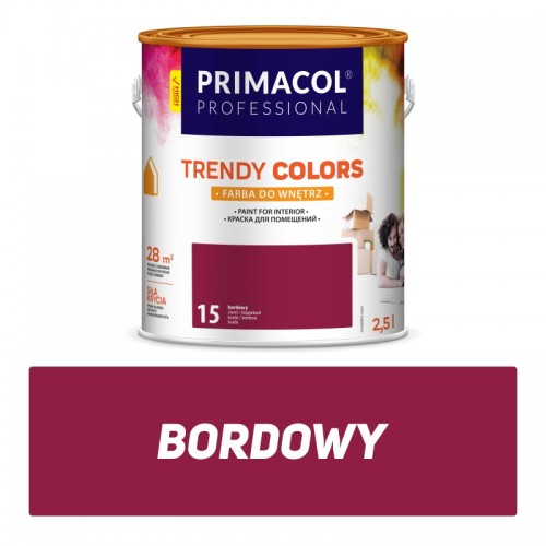 Farba Trendy Colors Bordowa 25 L