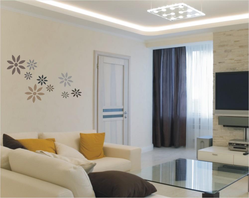 decorating stencil xxl daisies nr 21 sklepdecor. Black Bedroom Furniture Sets. Home Design Ideas