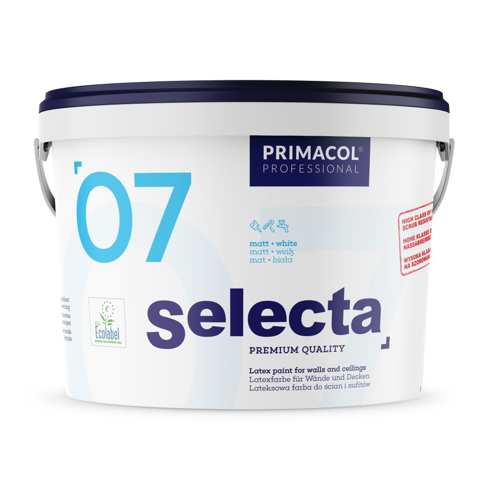 Selecta 07 Premium Quality 10 L Farba Lateksowa Biala Mat Sklepdecor